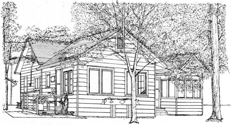 Michigan Summer Cottage Drawing