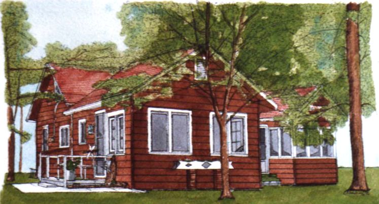 Michigan Summer Cottage Painting